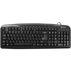 Slika Tastatura CANYON CNE-CKEY2-US, multimedia, US, black, USB