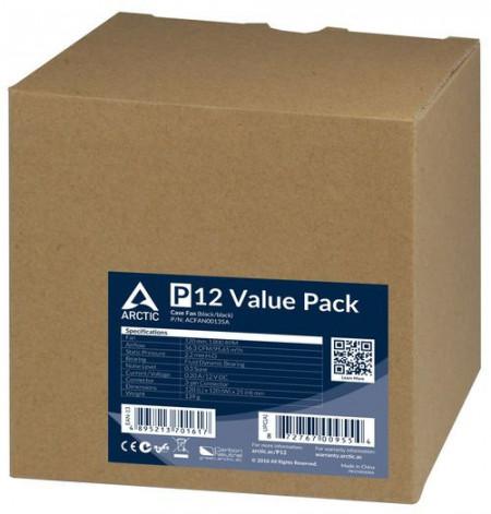 Slika Ventilator za kućište Arctic P12 Value Pack (5XFAN), 12cm, 3 pin, ACFAN00135A
