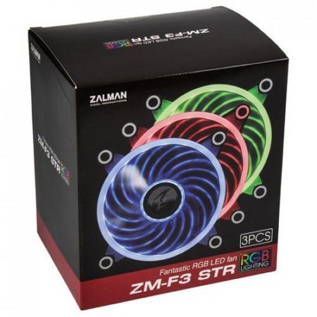Slika Ventilator za kućište Zalman ZM-F3 STR PWM RGB, 12cm, ZM-F3 STR, 6-pin, 3XFAN RGB LED