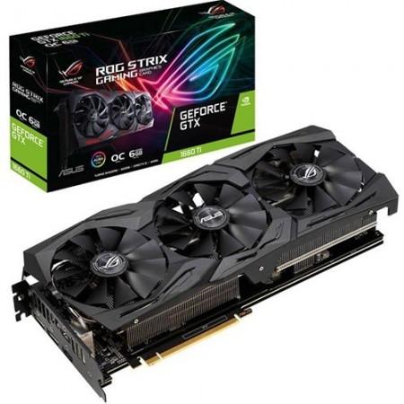 Slika VGA ASUS ROG-STRIX-GTX1660TI-O6G, nVidia GeForce GTX 1660Ti, 6GB DDR6, 192-bit