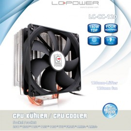 Slika CPU Hladnjak LC POWER Cosmo Cool LC-CC-120, 4 heatpipe, 180W TDP