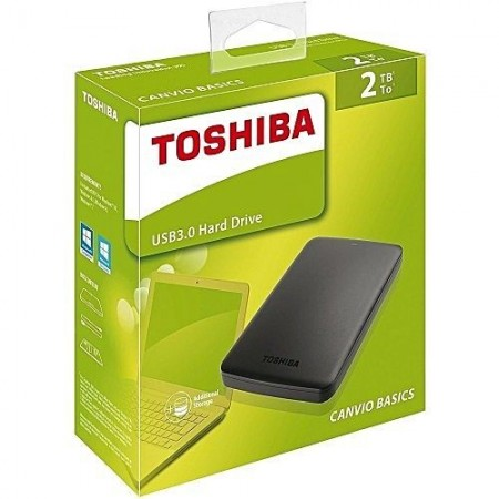 """HDD External 2TB TOSHIBA CANVIO Basics, HDTB420EK3AA, USB 3.0, 2.5"""""""
