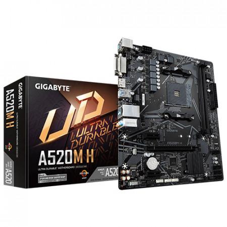 Slika MB GIGABYTE A520M H, DVI-D, HDMI, 2 x DIMM, AM4
