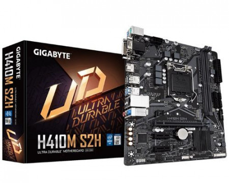 Slika MB GIGABYTE H410M S2H, Intel H410, DDR4, VGA, DVI, HDMI, M.2, LGA 1200