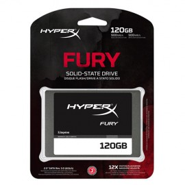 Slika SSD 120GB KINGSTON HyperX Fury SHFS37A/120G, SATA III, 500/500 MB/s