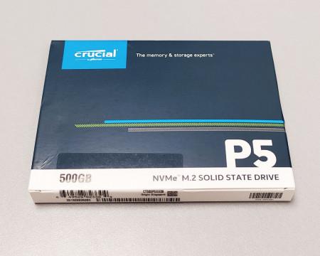Slika SSD 500GB CRUCIAL P5, CT500P5SSD8, PCIe Gen3x4, NVMe, 3400/3000 MB/s
