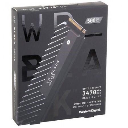 Slika SSD 500GB Western Digital Black, WDS500G3X0C, PCIe Gen3 x4, NVMe, M.2 2280, 3430/2600 MB/s