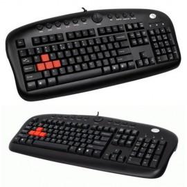 Slika Tastatura A4 TECH KB-28G, gaming tastatura, gumirani i obojeni tasteri W, A, S, D; PS/2