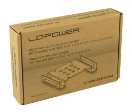 """Slika Adapter (bracket) za ugradnju HDD/SSD-a u kućište, LC POWER LC-ADA-525-2535A, 5.25˝ to 2.5˝/3.5"""", aluminium"""