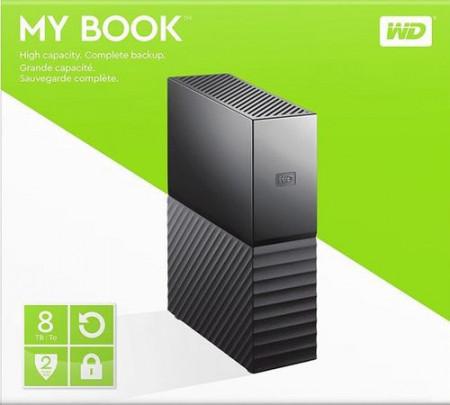 "Slika HDD External 8 TB Western Digital MY BOOK WDBBGB0080HBK-EESN, USB 3.0, 3.5"", black"