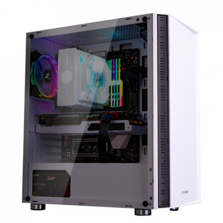 Slika Kućište Zalman R2 WHITE, RGB FAN 120mm, glass, bez napajanja