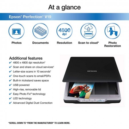 Slika Skener EPSON Perfection V19, 4800x4800dpi, 48-bit, USB 2.0