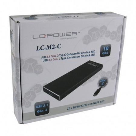 Slika SSD Rack LC Power LC-M2-C Enclosure for M.2 SSD USB3.1 Gen.2 Type C Black