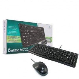 Slika Tastatura + miš LOGITECH MK120 wired desktop, USB, US, Black (920-002563)
