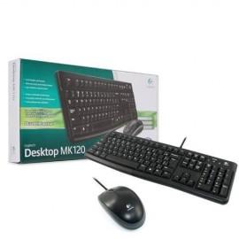 Slika Tastatura + miš LOGITECH MK120 wired desktop, USB, US, Black (920-002563)