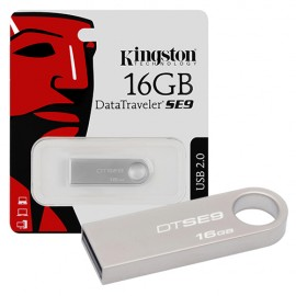 Slika USB Flash Drive 16 GB KINGSTON DataTraveler DTSE9H/16GB, USB 2.0, Metal, Silver