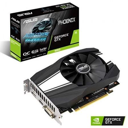 Slika VGA ASUS PH-GTX1660-6G, nVidia GeForce GTX 1660, 6GB DDR6, 192-bit