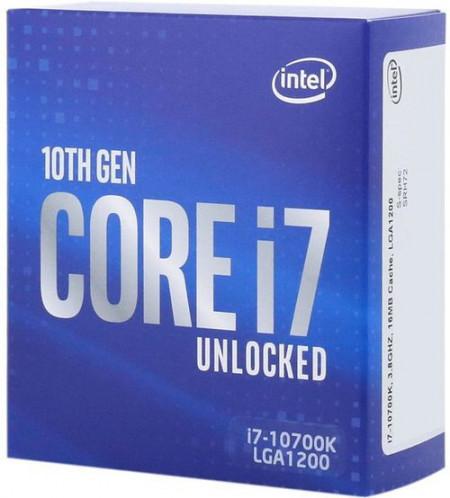 CPU INTEL Core i7-10700K, 8-Core, 3.8GHz (5.1GHz), 16MB, 95W, LGA 1200, BOX