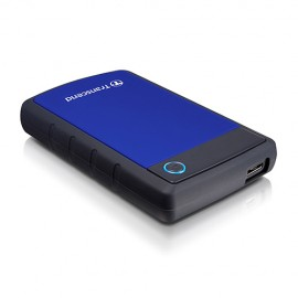Slika HDD External 1TB TRANSCEND, TS1TSJ25H3B, USB 3.0, 284g, 2.5″, gumiran, plavo-crni