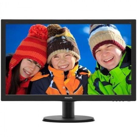 "Slika Monitor 23.6"" PHILIPS 243V5LSB5/00, LED, 16:9, FHD, 1 ms, VGA, DVI-D"