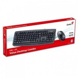 Tastatura + miš komplet GENIUS KM-130, optički miš, USB, US, black