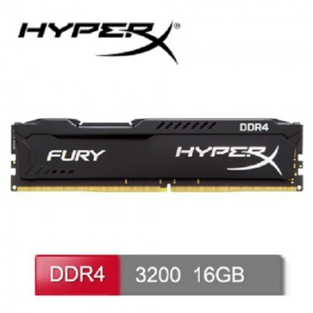 Slika 16 GB DDR4/3200 KINGSTON HX432C18FB/16, HyperX FURY Black