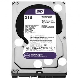 Slika HDD 2 TB WESTERN DIGITAL Purple, WD20PURZ, 64MB, 5400rpm,za video nadzor, SATA 3
