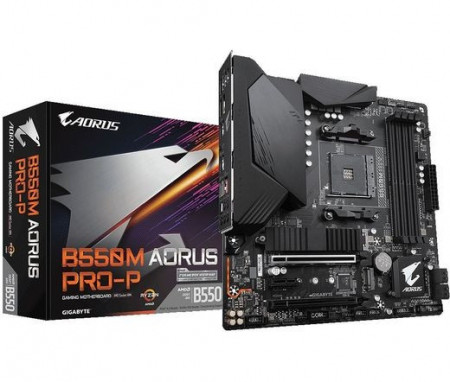 Slika MB GIGABYTE B550M AORUS PRO-P, AMD B550, 4XDIMM, AM4