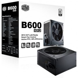 Slika Napajanje COOLER MASTER 600W, B600 VER.2 series, RS-600-ACABB1-EU, 12cm fan, Efficiency >85%, RS-600-ACAB-B1