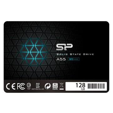 Slika SSD 128GB SILICON POWER A55, SP128GBSS3A55S25, 2.5″, 7mm, SATA 3, 550/420 MB/s