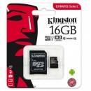 Micro SD 16GB KINGSTON Canvas Select SDCS/16GB, sa adapterom, UHS-I, class 10, 80MB/s read