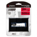 SSD 500GB KINGSTON SA2000M8/500G, 2200/2000 MB/s, PCIe NVMe M.2 2280