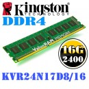 16 GB DDR4/2400 KINGSTON KVR24N17D8/16, ValueRAM