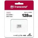 Micro SD 128GB TRANSCEND 300S, TS128GUSD300S, UHS-I, U3, class 10, 95/45 MB/s