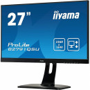 "Monitor 27"" IIYAMA B2791QSU-B1, QHD (2560x1440), 1ms, 13cm height adj. stand, 350cd/m², DP, HDMI, DVI, Speakers, USB-HUB(2x3.0)"