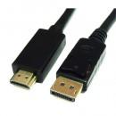 Kabl Roline DisplayPort - DisplayPort, M/M, 5m, crni