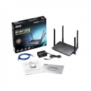 Wireless router ASUS RT-AC1200, Wireless AC1200 Dual Band, 4 antene, 3 in 1 (Router, Repeater, Access point)