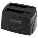 "Dual bay HDD docking station LC POWER LC-DOCK-U3, USB 3.0 (za 2.5""/3.5"" HDD/SSD, Cloning backup storage)"