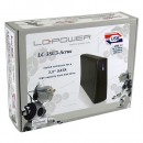 "HDD rack LC POWER LC-35U3-Acrux, 3.5"", SATA, USB3.0, Black, aluminium / plastic"