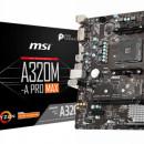 MB MSI A320M-A PRO MAX, AMD A320, NVMe, 2 x DIMM, AM4