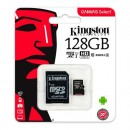 Micro SD 128GB KINGSTON Canvas Select SDCS/128GB, sa adapterom, UHS-I, class 10, 80MB/s read
