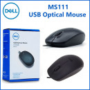 Miš DELL MS111, optical, USB, black (za laptop - kabl 80cm)