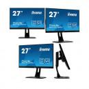 "Monitor 27"" IIYAMA B2791QSU-B1, QHD (2560x1440), 1ms, 13cm height adj. stand, 350cd/m², DP, HDMI, DVI, Speakers, USB-HUB(2x3.0)"