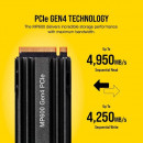SSD 500GB Corsair Force Series MP600 , CSSD-F500GBMP600 ,Gen4 x4, M.2 2280, 4950/2500 MB/s