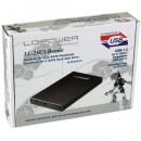 HDD rack LC POWER LC-25U3-Becrux, 2.5″, SATA, USB 3.0, HDD height 9,5 mm, aluminium, black