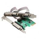 Kontroler PCI Express 1 paralel + 2 serijska RS232 porta, V.TOP, PC2PSC