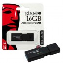 USB Flash Drive 16GB KINGSTON DataTraveler DT100G3/16GB, USB 3.0, Sliding USB connector, Plastic, Black