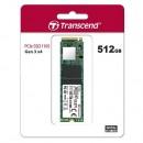 SSD 512GB Transcend 110S, TS512GMTE110S, PCIe Gen3 x4, NVMe, M.2 2280, 1800/1500 MB/s