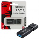 USB Flash Drive 32GB KINGSTON DataTraveler DT100G3/32GB, USB 3.0, Sliding USB connector, Plastic, Black