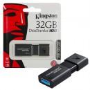 USB Flash Drive 32GB KINGSTON DataTraveler DT100G3/32GB, USB 3.0, Sliding USB connector, Plastic, Black